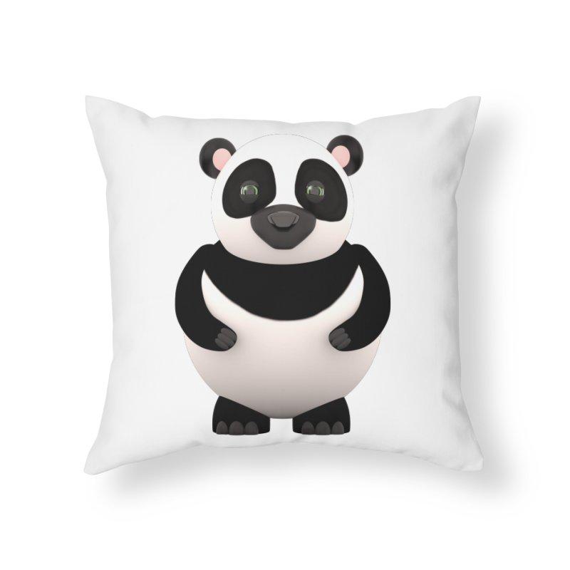 Cartoon Panda Home Throw Pillow by Me&My3D