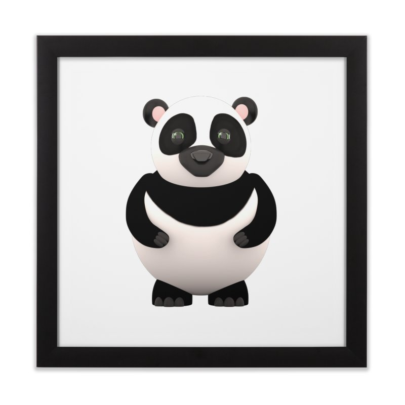 Cartoon Panda Home Framed Fine Art Print by Me&My3D