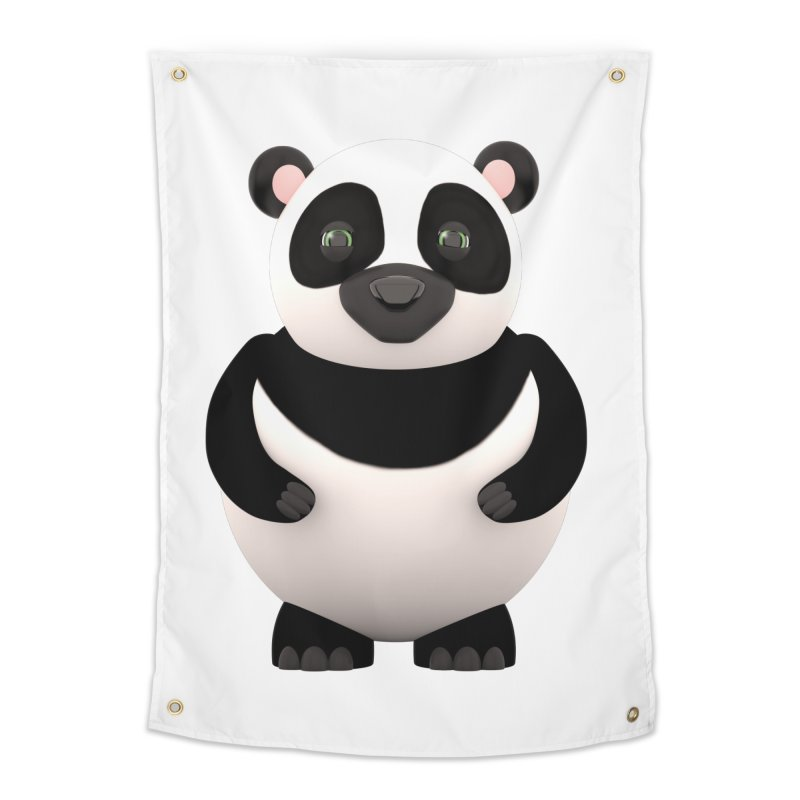 Cartoon Panda Home Tapestry by Me&My3D
