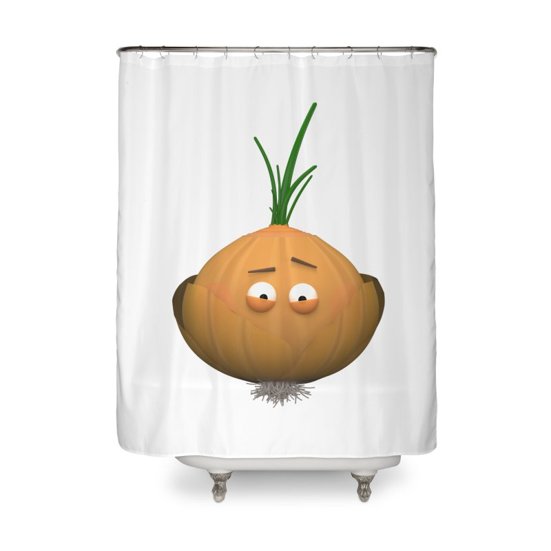 Mr. Onion Home Shower Curtain by Me&My3D