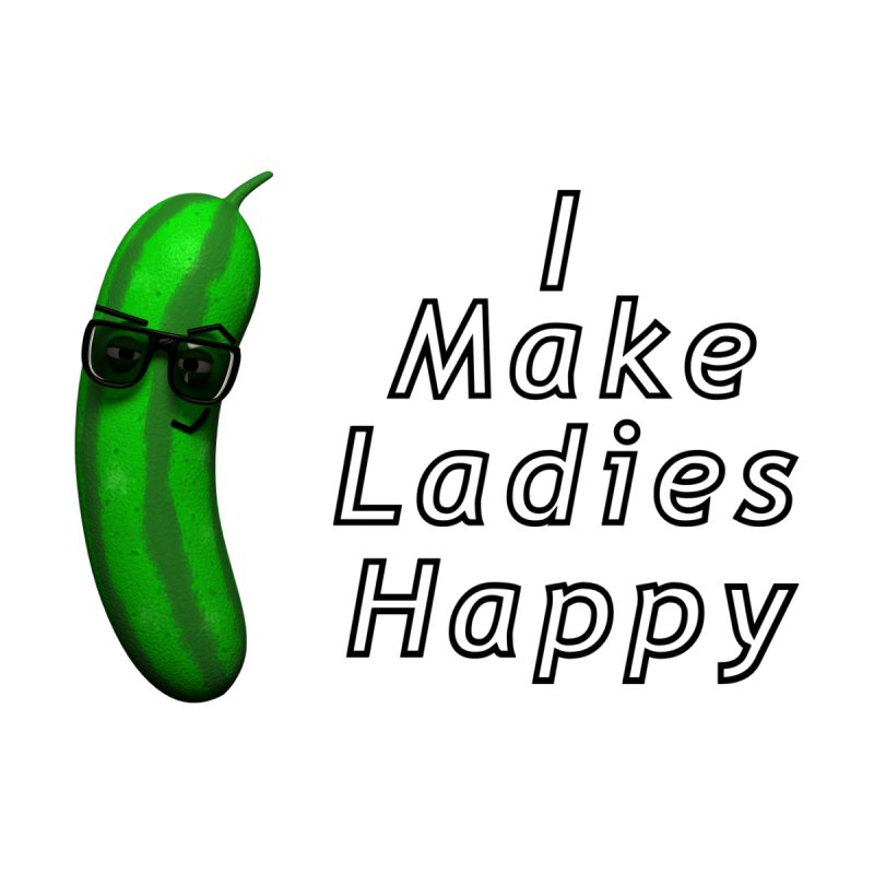 Mr. Pickle makes ladies Happy Men's Zip-Up Hoody by Me&My3D