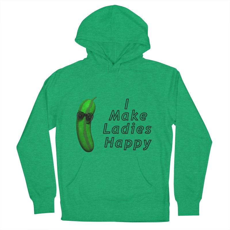 Mr. Pickle makes ladies Happy Men's Pullover Hoody by Me&My3D