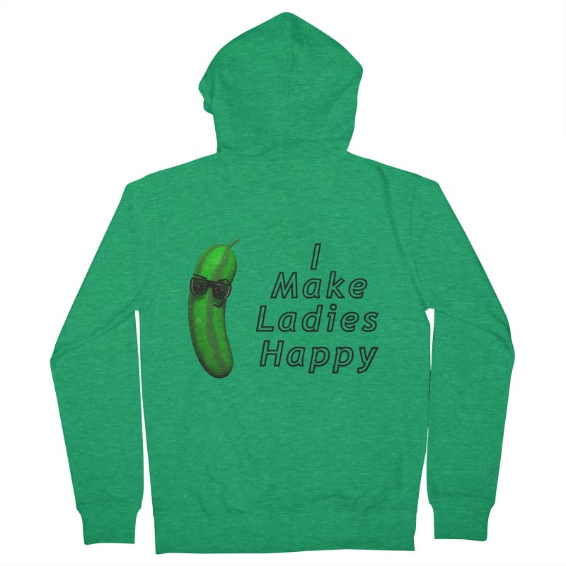 Mr. Pickle makes ladies Happy Women's French Terry Zip-Up Hoody by Me&My3D
