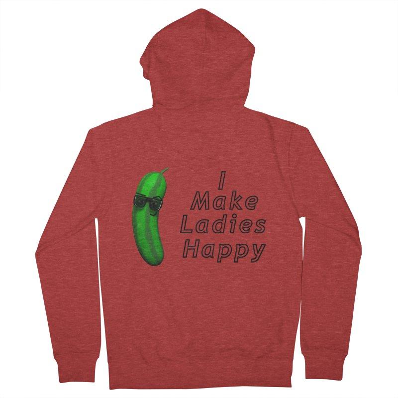 Mr. Pickle makes ladies Happy Men's Zip-Up Hoody by Me&My3D