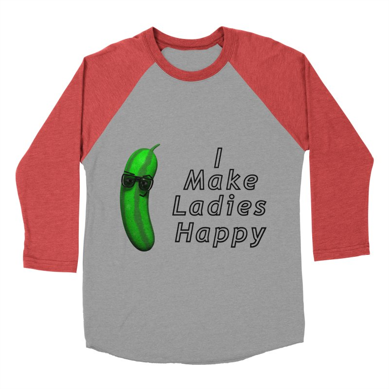 Mr. Pickle makes ladies Happy Men's Baseball Triblend Longsleeve T-Shirt by Me&My3D