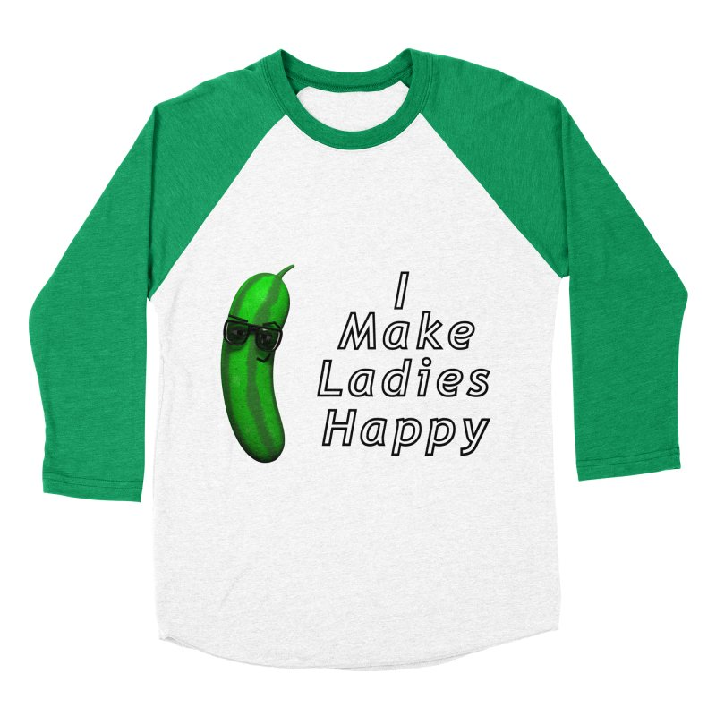 Mr. Pickle makes ladies Happy Men's Baseball Triblend T-Shirt by Me&My3D