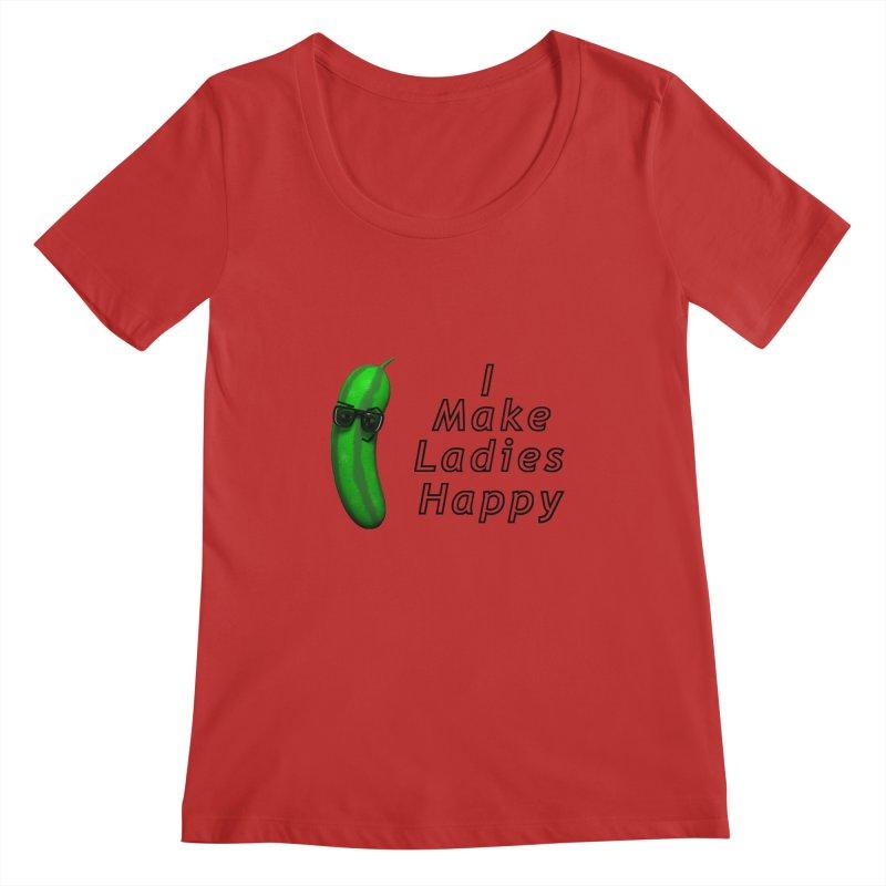Mr. Pickle makes ladies Happy Women's Scoopneck by Me&My3D