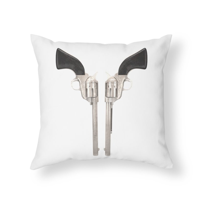 Sixshooter Home Throw Pillow by Me&My3D