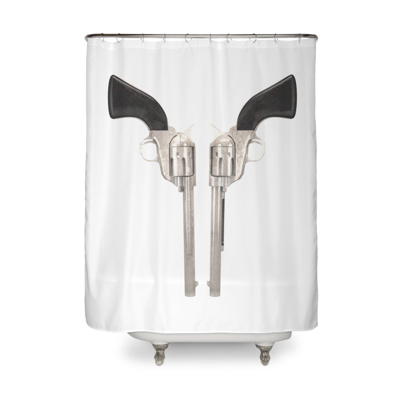 Sixshooter Home Shower Curtain by Me&My3D