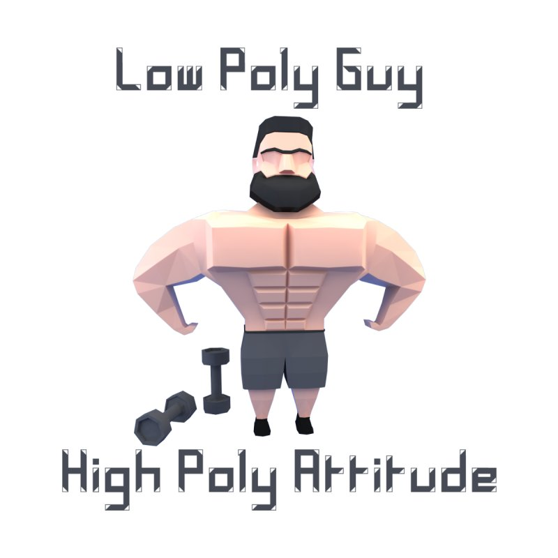Low Poly Guy with High Poly Attitude Women's Longsleeve T-Shirt by Me&My3D