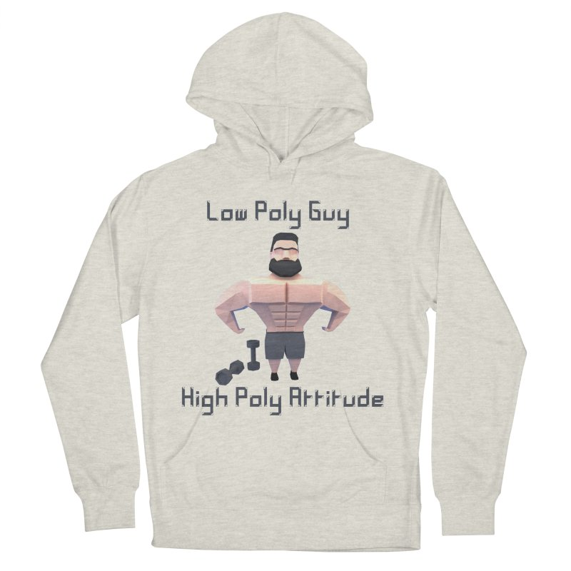 Low Poly Guy with High Poly Attitude Men's French Terry Pullover Hoody by Me&My3D