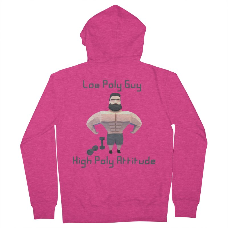 Low Poly Guy with High Poly Attitude Women's Zip-Up Hoody by Me&My3D