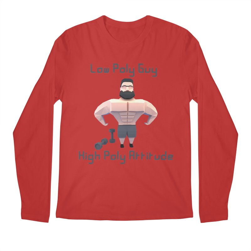 Low Poly Guy with High Poly Attitude Men's Regular Longsleeve T-Shirt by Me&My3D