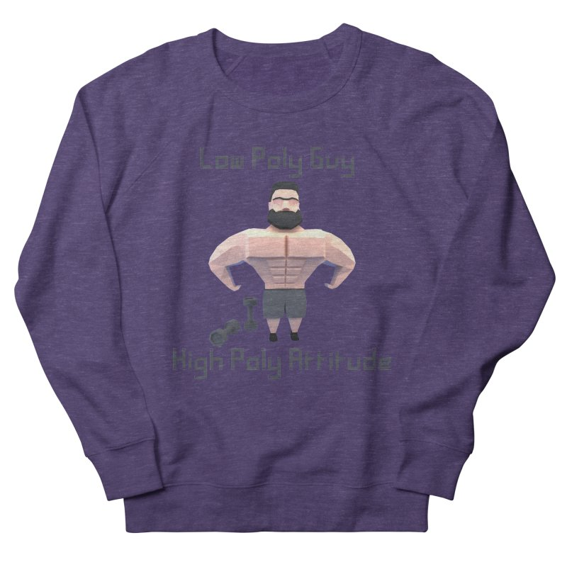 Low Poly Guy with High Poly Attitude Men's French Terry Sweatshirt by Me&My3D