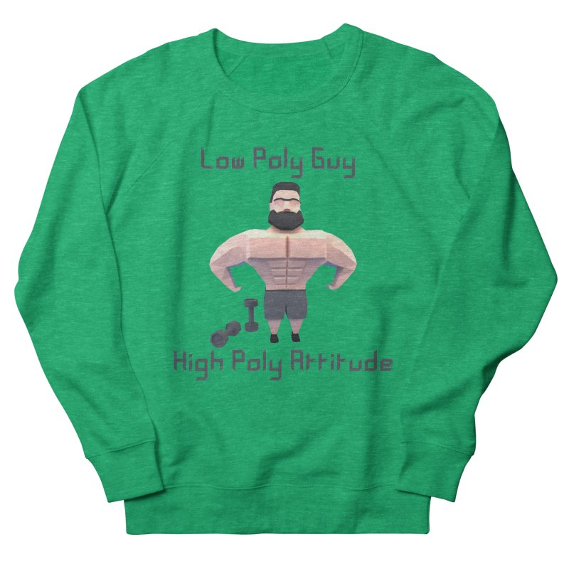 Low Poly Guy with High Poly Attitude Men's Sweatshirt by Me&My3D