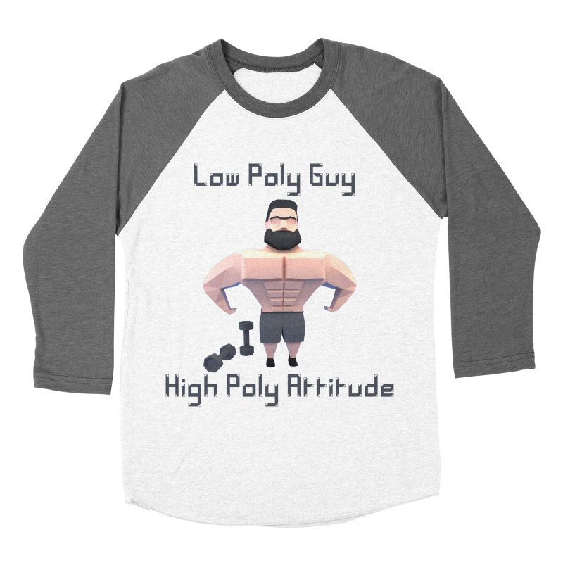 Low Poly Guy with High Poly Attitude Women's Baseball Triblend Longsleeve T-Shirt by Me&My3D