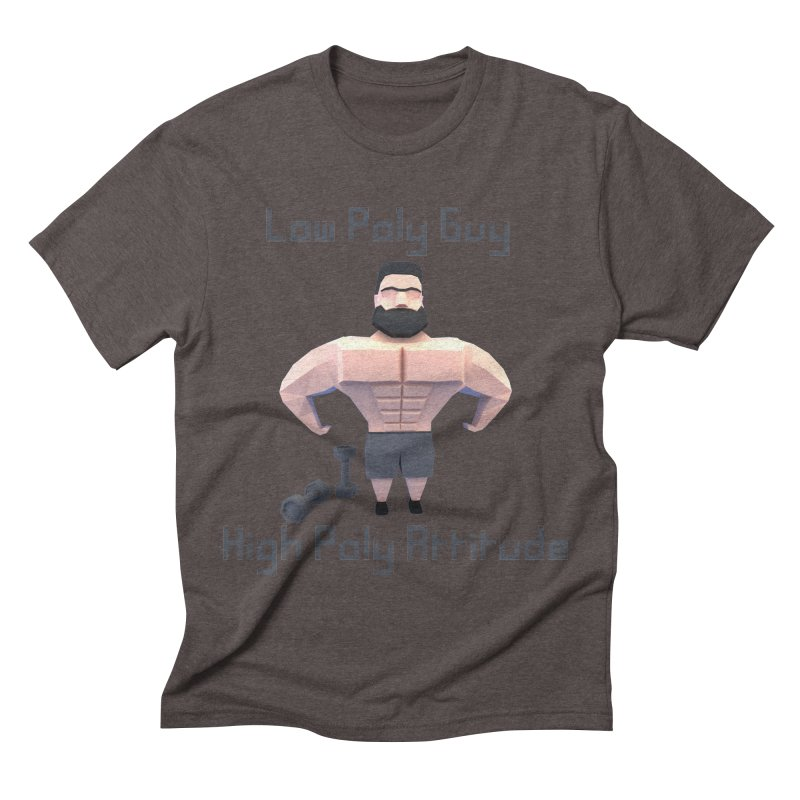 Low Poly Guy with High Poly Attitude Men's Triblend T-shirt by Me&My3D