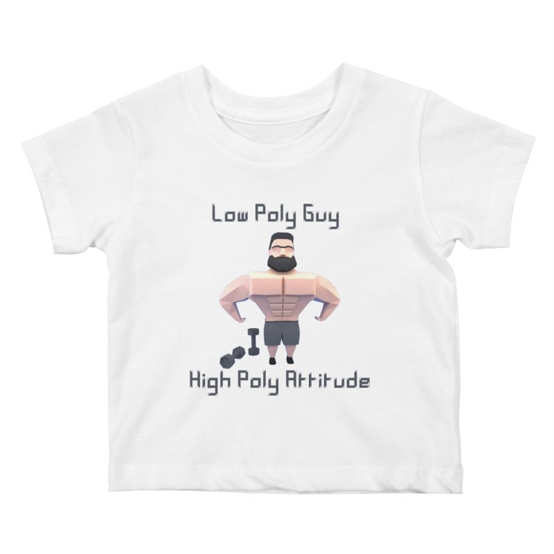 Low Poly Guy with High Poly Attitude Kids Baby T-Shirt by Me&My3D