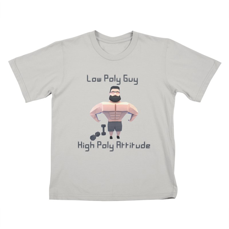 Low Poly Guy with High Poly Attitude Kids T-Shirt by Me&My3D