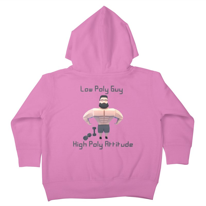 Low Poly Guy with High Poly Attitude Kids Toddler Zip-Up Hoody by Me&My3D