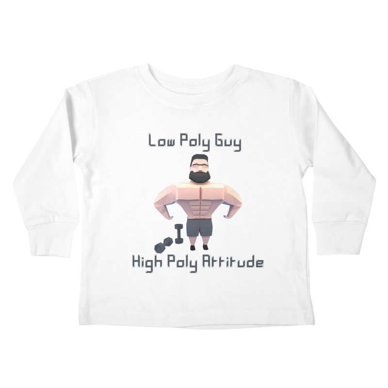 Low Poly Guy with High Poly Attitude Kids Toddler Longsleeve T-Shirt by Me&My3D