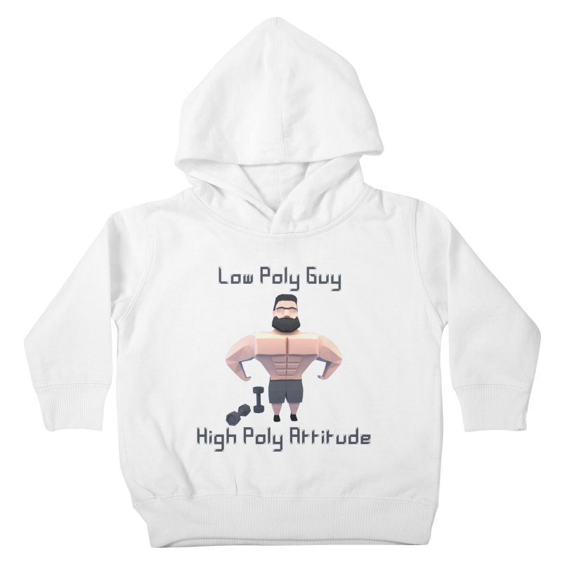 Low Poly Guy with High Poly Attitude Kids Toddler Pullover Hoody by Me&My3D