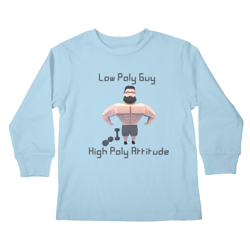 Low Poly Guy with High Poly Attitude Kids Longsleeve T-Shirt by Me&My3D