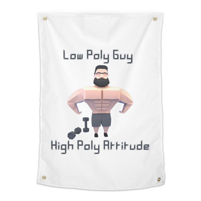 Low Poly Guy with High Poly Attitude Home Tapestry by Me&My3D