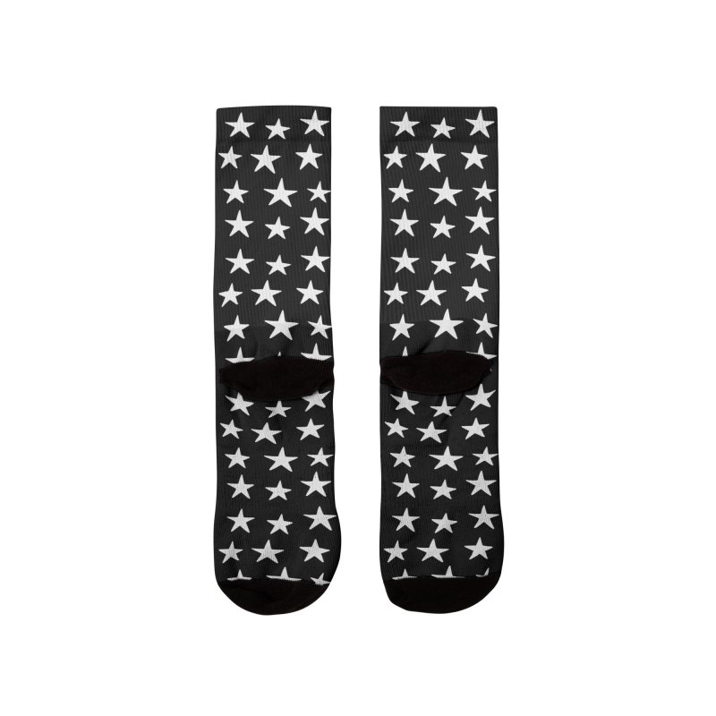 Star Pattern Black Women's Socks by Me And The Moon | Artist Shop