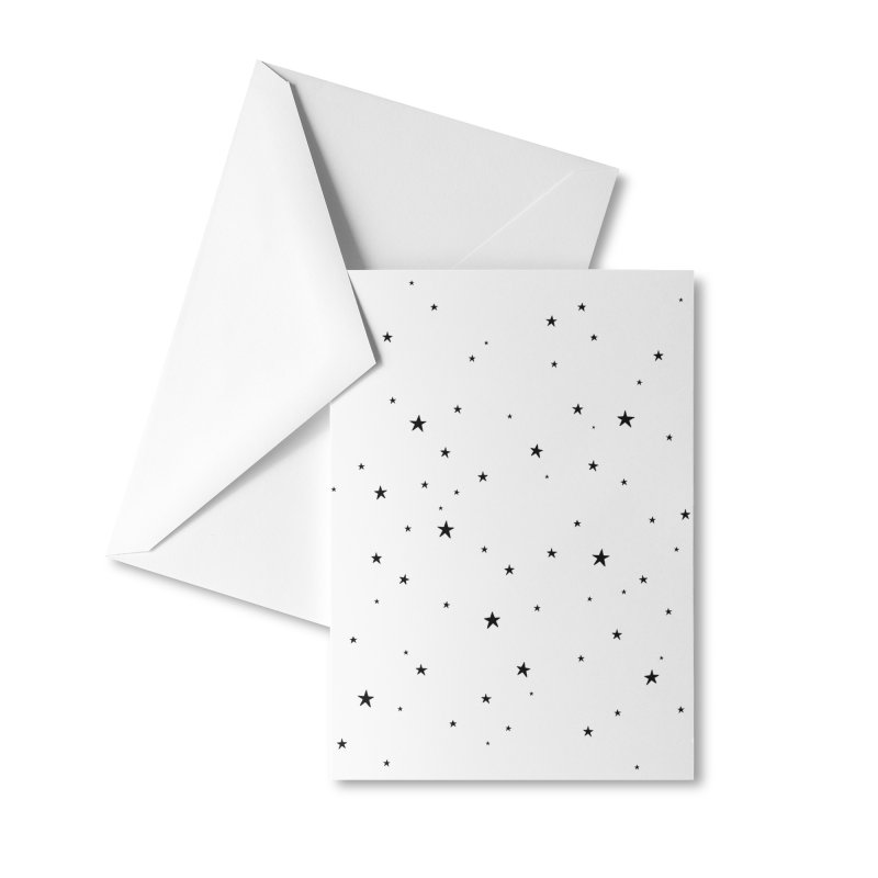Tiny Stars White Accessories Greeting Card by Me And The Moon Artist Shop