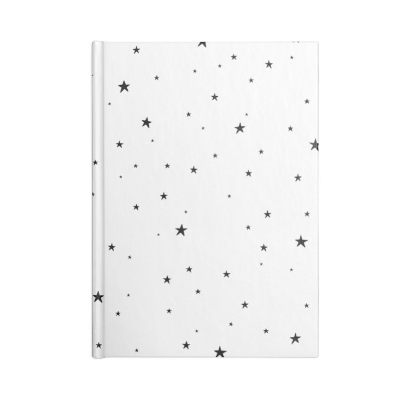 Tiny Stars White Accessories Notebook by Me And The Moon Artist Shop