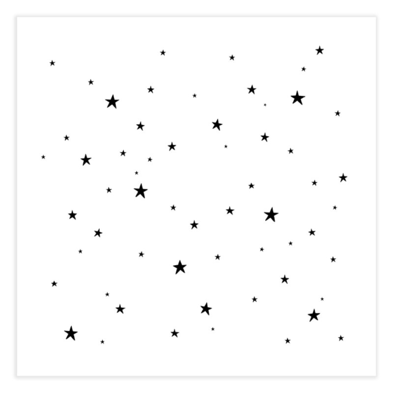 Tiny Stars White Home Fine Art Print by Me And The Moon Artist Shop