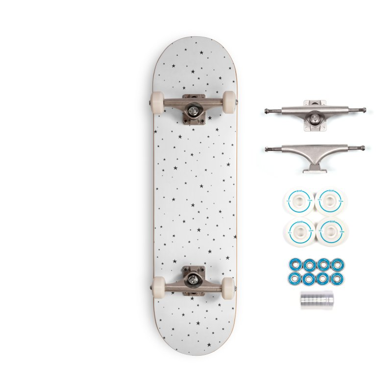 Tiny Stars White Accessories Skateboard by Me And The Moon Artist Shop
