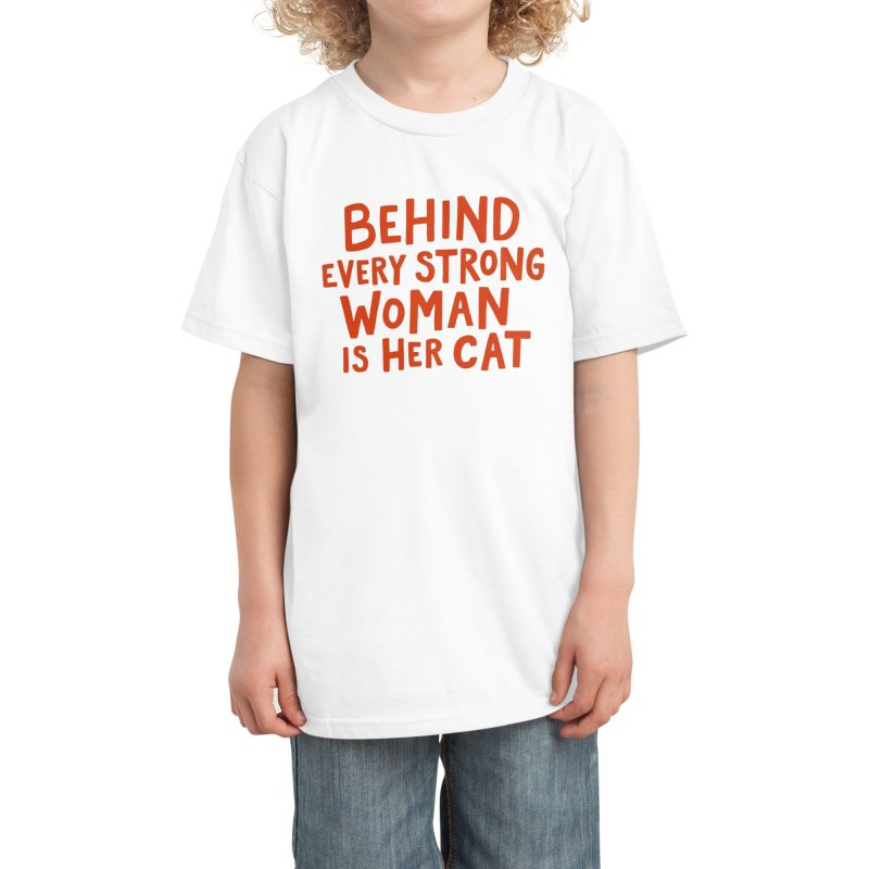 Behind Every Strong Woman Kids T-Shirt by Me And The Moon Artist Shop