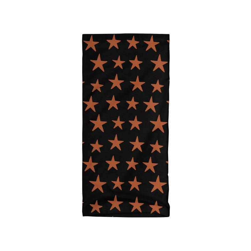 Star Pattern Orange & Black Accessories Neck Gaiter by Me And The Moon Artist Shop