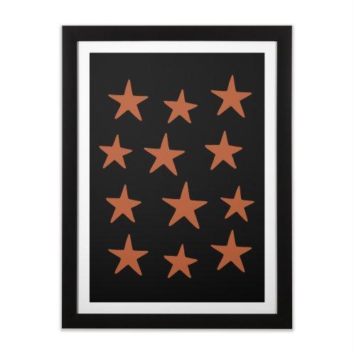 image for Star Pattern Orange & Black
