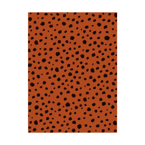 Design for Animal Print Spots Burnt Orange