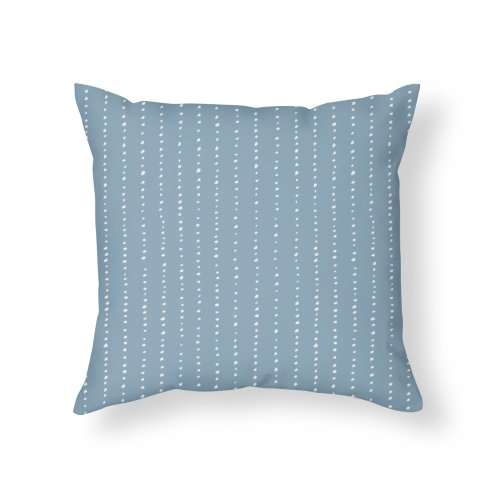 image for Dotted Lines White On Soft Blue