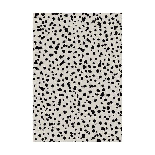 Design for Scattered Spots Black On Beige