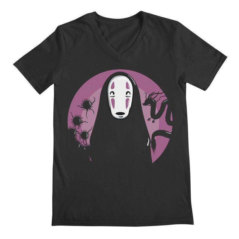 No-Face Men's V-Neck by mebzart's Artist Shop