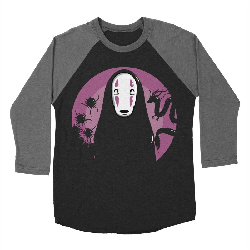 No-Face Men's Baseball Triblend T-Shirt by mebzart's Artist Shop