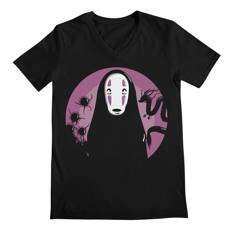 No-Face Men's Regular V-Neck by mebzart's Artist Shop