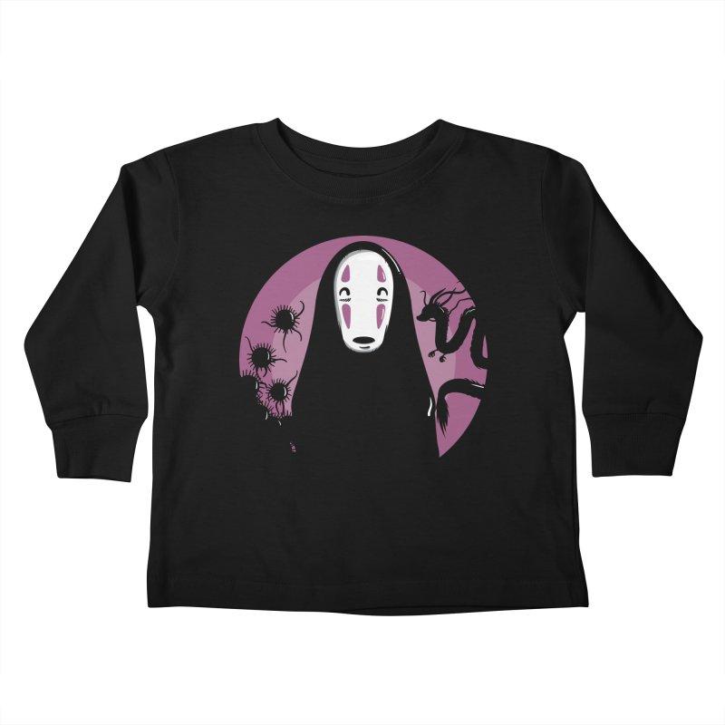 No-Face Kids Toddler Longsleeve T-Shirt by mebzart's Artist Shop