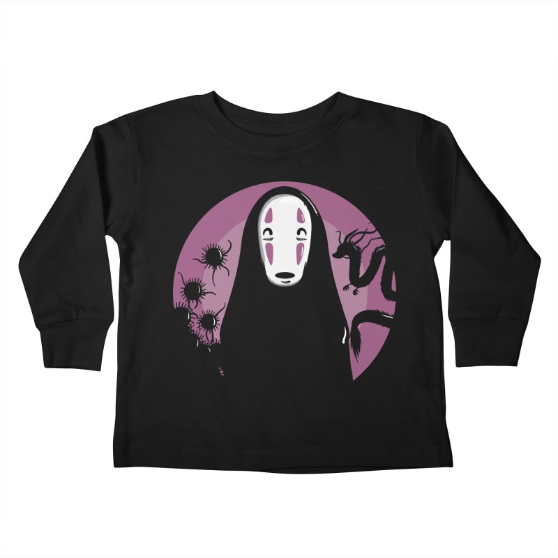 No-Face Kids Toddler Longsleeve T-Shirt by mebzart's Artist Shop