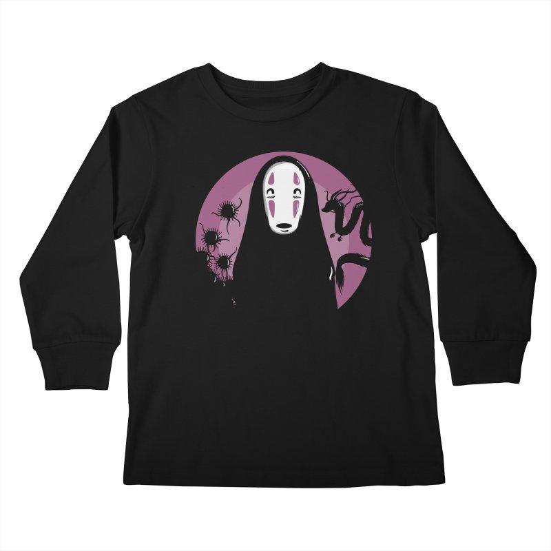 No-Face Kids Longsleeve T-Shirt by mebzart's Artist Shop