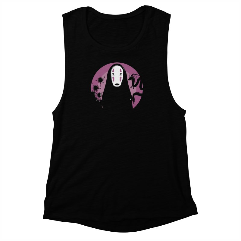 No-Face Women's Muscle Tank by mebzart's Artist Shop