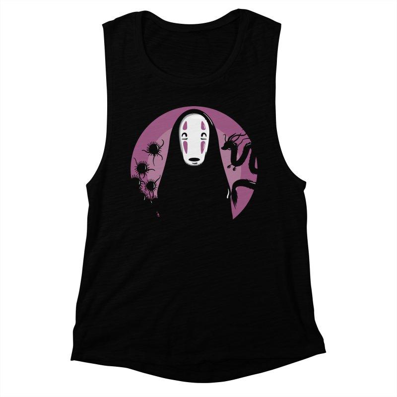 No-Face Women's Muscle Tank by mebzart's Artist Shop