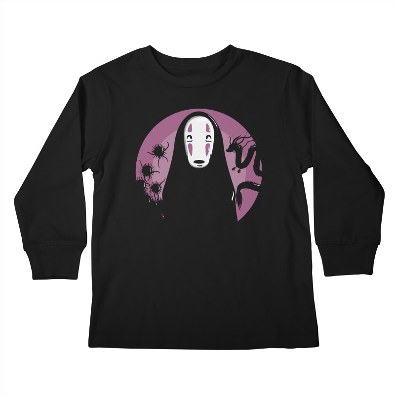 No-Face Kids Longsleeve T-Shirt by mebzart's Artist Shop