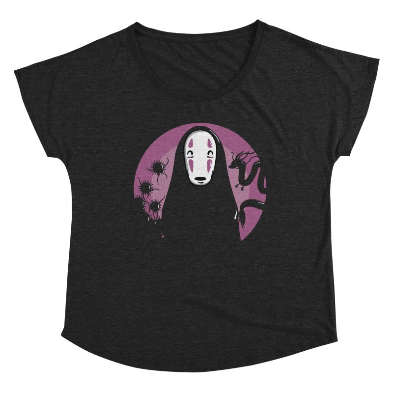 No-Face Women's Scoop Neck by mebzart's Artist Shop