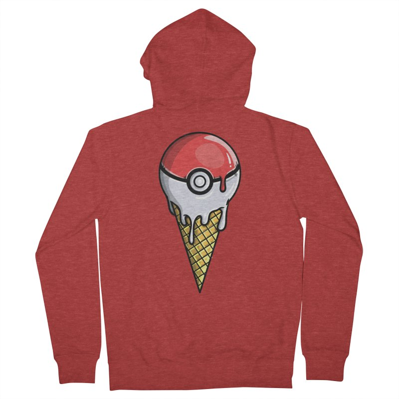 Gotta Lick 'Em All Men's French Terry Zip-Up Hoody by mebzart's Artist Shop